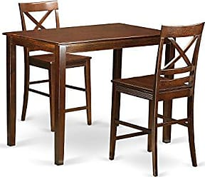 East West Furniture YAQU3-MAH-W 3 Piece High Table and 2 Chairs Set