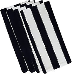 E by Design Stitch in Time Stripes Print Napkin, 19 by 19, Bewitching