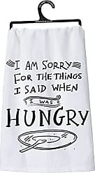 Primitives By Kathy LOL Made You Smile Dish Towel, 28 x 28, Hungry