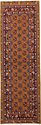 Nain Trading Afghan Akhche Baghlan Rug 80x26 Runner Brown/Purple (Afghanistan, Wool, Hand-Knotted)