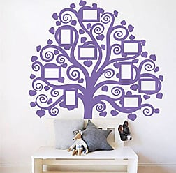 The Decal Guru Giant Family Tree Picture Wall Decal | Home Decor Vinyl Art Photo Mural Curly Branch Sticker (Lavender, 60x54 inches)