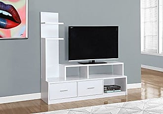 Monarch Specialties I 2697 A Display Tower TV Stand, 60, White