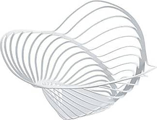 Alessi ACO04/16 WTrinity Citrus Basket in Steel Colored with Epoxy Resin, White