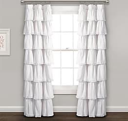 Lush Décor Lace Ruffle Window Curtain Panel Blush - 16T002876
