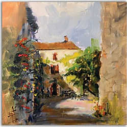 WEXFORD HOME France II Gallery Wrapped Canvas Wall Art, 32x32