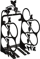 Village Wrought Iron 16.5 Inch Grapevine Wine Rack Wall Mount