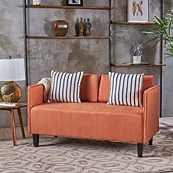 Christopher Knight Home 301060 Sullivan Orange Fabric Loveseat