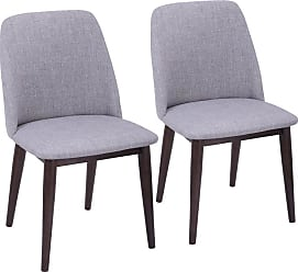 LumiSource Tintori Mid-Century Modern Dining Chair - Set of 2 - CHR-TNT WL+LGY2