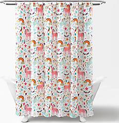 Lush Décor Unicorn Heart Polyester Shower Curtain White - 16T004314