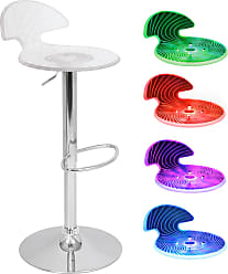 LumiSource Spyra Contemporary Light-UP LED Bar Stool (Title: Spyra Light-UP LED Barstool)