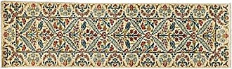 Solo Rugs Suzani Hand Knotted Runner Rug 2 7 x 9 7 Ivory