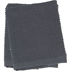 Kay Dee Designs Ribbed Terry Dishcloths, Cotton, 2-Piece Set, 13-Inch by 13-Inch, Charcoal