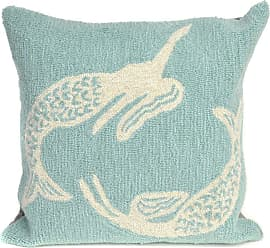 Liora Manne Mermaids 18 x 18 Indoor/Outdoor Pillow Orange - 7FP8S167418