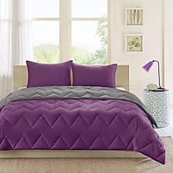 INTELLIGENT DESIGN E&E Co Trixie Reversible Comforter Mini Set Purple/Charcoal Twin