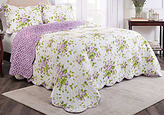 Ellery Homestyles WAVERLY 3-Piece Bedspread Collection, King/Cal King, Sweet Violets