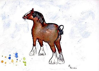 Betsy Drake PM936 Clydesdale Place Mat, Set of 4