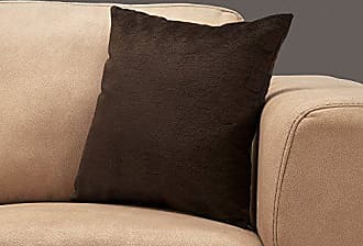 Monarch Specialties I 9284 Decorative Throw Pillow Mosaic Velvet 18x18 Dark Brown