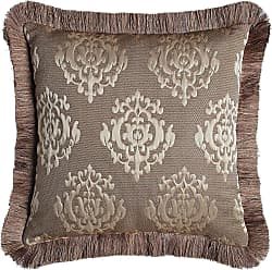 Dian Austin Couture Home Le Plaza Reversible Pillow with Fringe, 18Sq