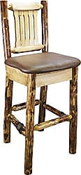 Montana Woodworks MWGCBSWNRSADD Glacier Country Collection Barstool with Back