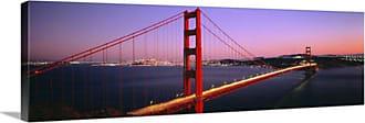 Great Big Canvas San Francisco Golden Gate Bridge at Night Canvas Wall Art Print - 40358_24_36X12_NONE