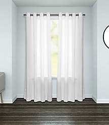 Umbra Elm Drapery Panel, Winter White, Curtains/Drapery Panels, White Curtains, 54x84 inches, Machine Washable Curtains/Drapes (Single Panel)
