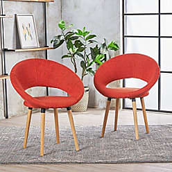 Christopher Knight Home 301202 Kagan Fabric Modern Dining Chair (Set of 2) (Muted Orange)