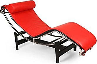 Kardiel LC4-RED-ANILINE Gravity Chaise Lounge, Red Aniline Leather