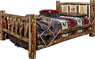 Montana Woodworks MWGCFBLZPINE Glacier Country Collection Full Bed Brown