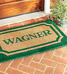 Geo Crafts 30 x 48Personalized Doormat, in Green