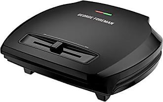 George Foreman GR380VB Classic Plate Grill and Panini Press with Adjustable Temperature Control, 8-Serving, Black