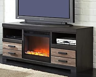 Ashley Furniture Harlinton 63 Tv Stand With Fireplace Two Tone