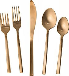Fortessa Arezzo 18/10 Stainless Steel Flatware, 5 Piece Place Setting, Service for 1, Rose Gold