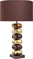 George Kovacs P730-631 Table Lamp in Chocolate Chrome/Brass finish with Brown Fabric