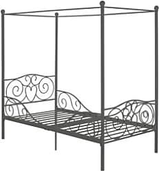 Ashley Furniture Canopy Twin Bed, Silver