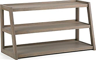 Simpli Home Simpli Home 3AXCSAW-04-GR Sawhorse Solid Wood 48 inch wide Modern Industrial TV media Stand in Distressed Grey For TVs up to 50 inches