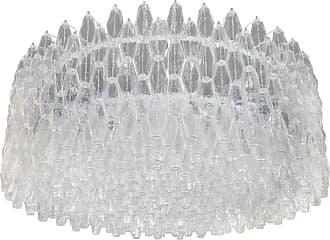 VENINI Monumental Chrome & Handblown Smoked Murano Glass Venini Polyhedral Chandelier