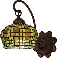 Meyda 19012 Jeweled Basket Wall Sconce in Mahogany Bronze finish