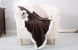 Ben&Jonah Designer Plush Mermaid Sherpa Throw Blanket (50 x 60) - Chocolate