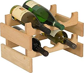Wooden Mallet 6 Bottle Dakota Wine Rack, Unfinished