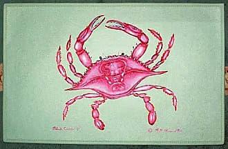 Betsy Drake DM102 Coastal Pink Crab Door Mat, 18 x 26