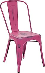 Office Star OSP Designs Bristow Armless Chair, Antique Pink, 4 Pack