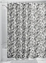 180 x 200 x 0,1 cm poli/éster//pl/ástico//Polipropileno Modelo Barroco 12 Loops incluidos MSV 140788 Cortina de Ducha Gris
