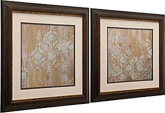 StyleCraft Stylecraft QA120010 Framed Print, Golds/Blues, 2 Piece