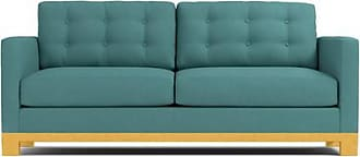 Apt2B Logan Drive Twin Size Sleeper Sofa - Leg Finish: Natural - Sleeper Option: Deluxe Innerspring Mattress - Teal Poly Blend - Sold by Apt2B - Modern
