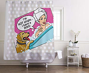 One Bella Casa 10094SC71 Not Single Shower Curtain by Dog is Good