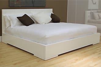 Whiteline Anna Platform Bed, Size: Queen - BQ1207-WHT