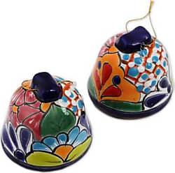 Novica Ceramic ornaments, Talavera Bells (set of 4)
