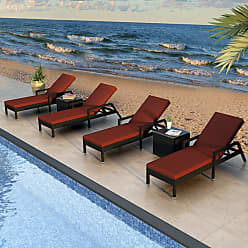 Harmonia Living Outdoor Harmonia Living Urbana Resin Wicker 6 Piece Chaise Lounge Patio Set - HL-URBN-CB-6RCLS-IN