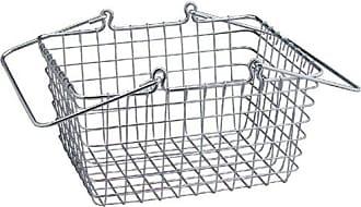 InterDesign Century Works Wire Organizer Basket with Handles, 9 x 11, Chrome