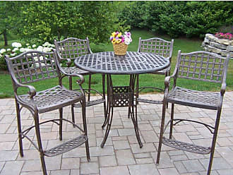 Oakland Living Outdoor Oakland Living Elite Cast Aluminum Bar Height Patio Dining Set - 1100-1101-5-AB